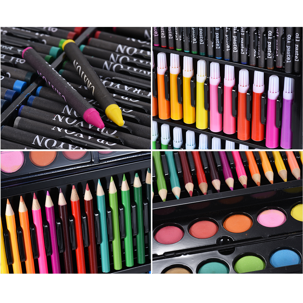 Drawing Pen Art Marker Pen Set Kit Painting Sketching Color Pencils Crayon Oil Pastel Water Color for Children Kids