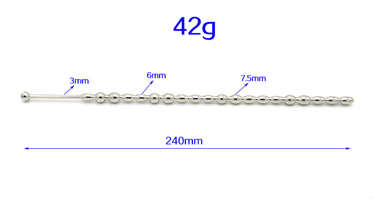 240mm Long Stainless Steel Medical Electro Shock Penis Ring Urethral Sounds Catheter Electrical Stimulation Penis Sex Toys For Man