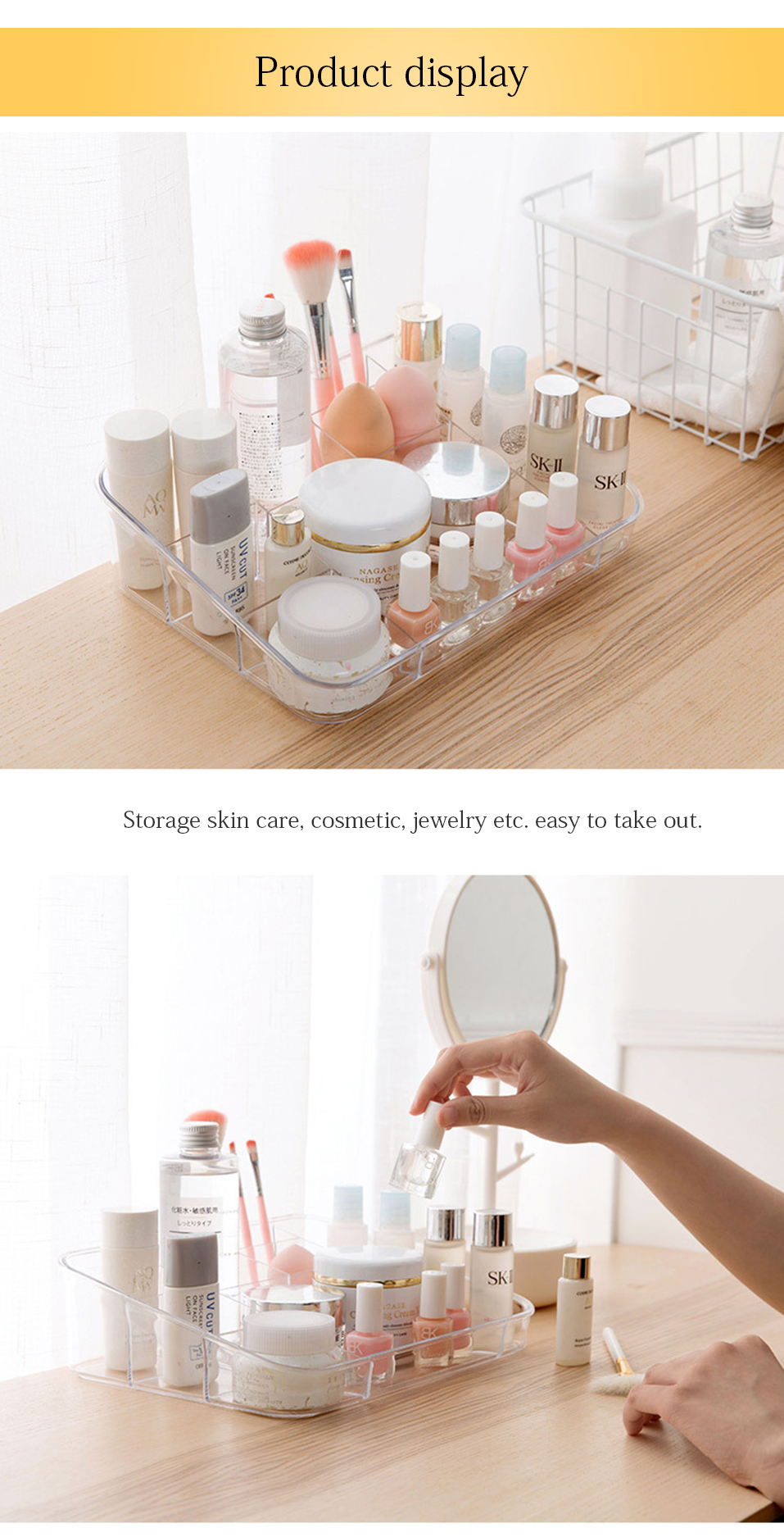Storage Boxes Clear Acrylic Makeup Organizer Storage Box Case Lipstick Plastic Make Up Organizer For Brushes Jewelry Cosmetic _07