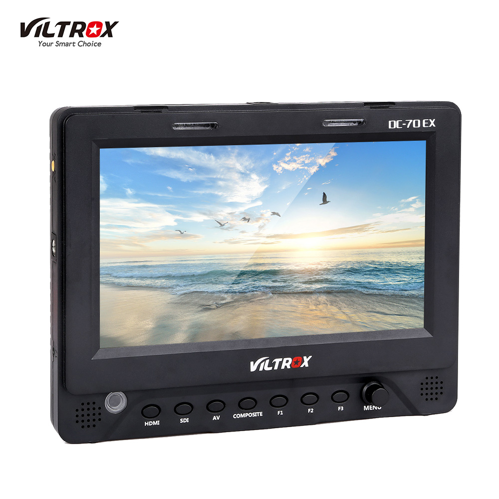 "wholesale DC-70EX 4K Porfessional 7"" HD Clip-on LCD Camera Video Monitor 1024*600 Resolution for HDMI SDI AV for Canon Nikon Sony"