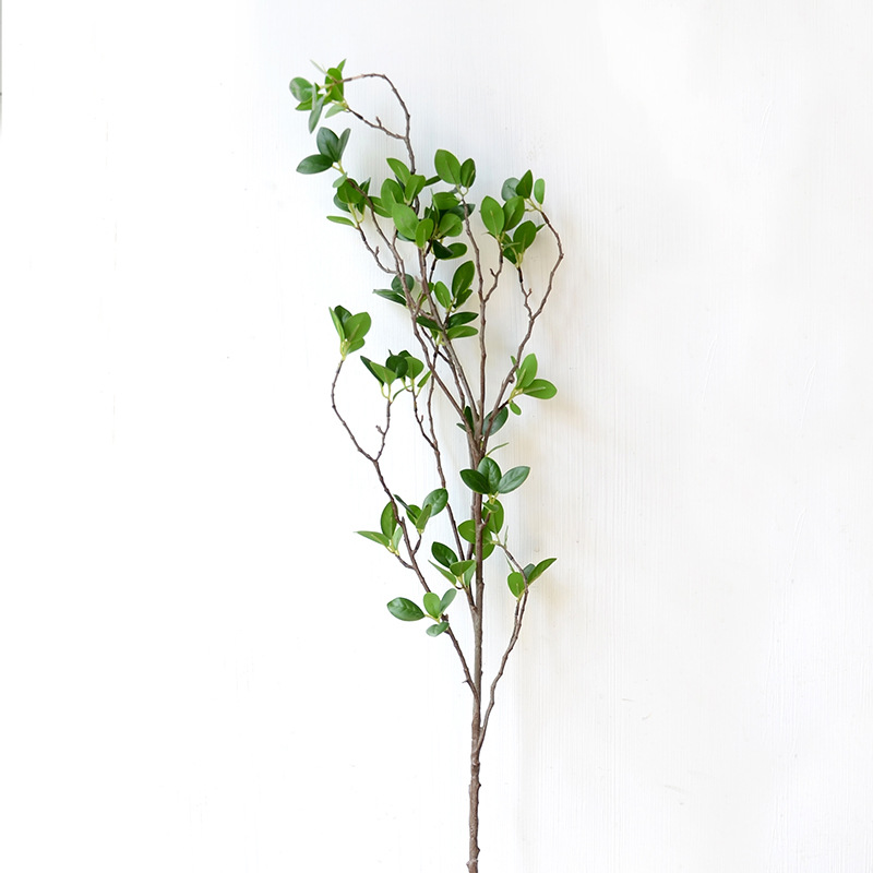 Artificial Flower Leaf Green Plant Branches Simulation Branch Artificial Plant Leaves Wedding Decorative Bouquet DIY material (8)