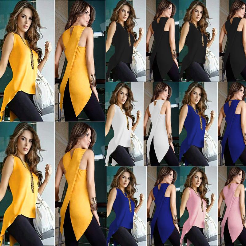 2018 Spring Summer Fashion Back Vent Irregular Jacket T Pity Yellow Promotion rabbit womens shirts blouses cotton Plus size