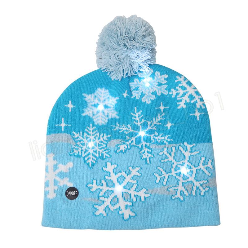 LED Natale lavorato a maglia Cappello bambino Adulti Babbo Natale Pupazzo di neve Renna Alce Festival Cappelli luminosi Regali di Natale Tappi all'aperto GGA1223
