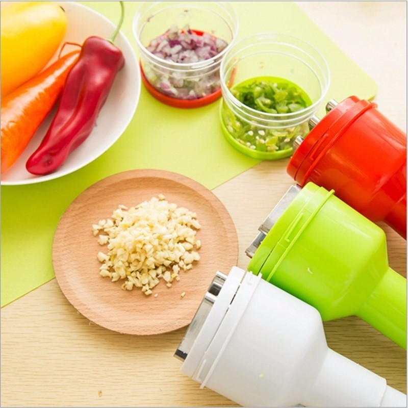 1pc Multi-functional Hand Chopper Plastic Garlic Presses Fruit Salad Vegetable Onion Chopper Cutter Garlic Grinding Kitchen Hand Tool (5)