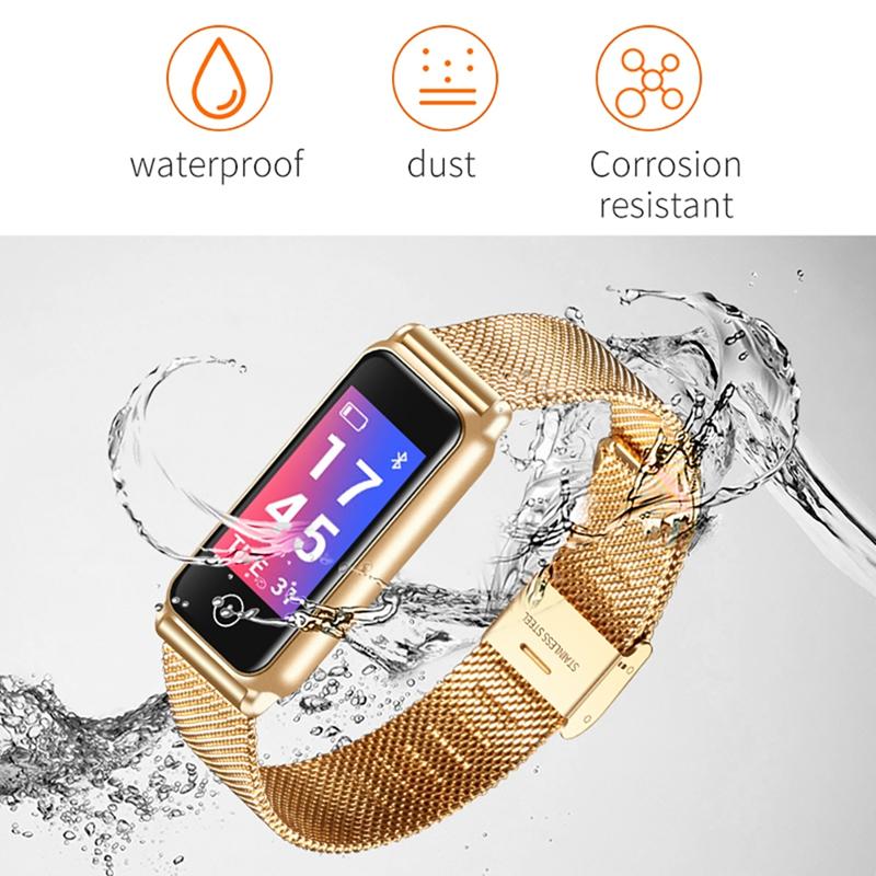 Bluetooth Wasserdichte Smart Watch Mode Frauen Damen Pulsmesser Gesunde Uhr Vibration Smartwatch für Android IOS Top Geschenke