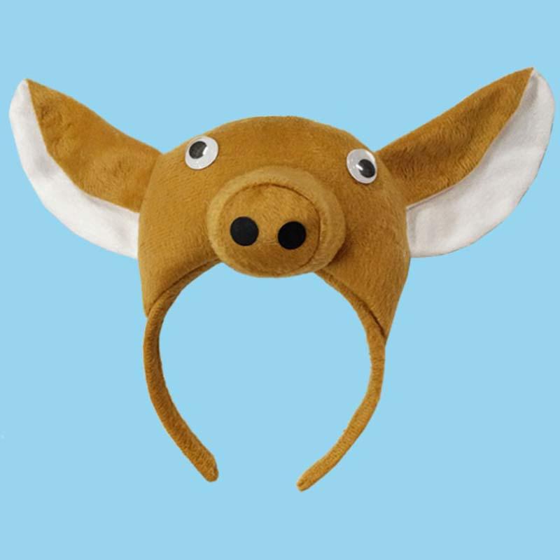 Çocuk Çocuk Boy Kız 3D Domuz Kulak Bandı Kuyruk Kravat Pençeleri Eldiven Sahne Hayvan Cosplay Kostüm Cadılar Bayramı Partisi Favor