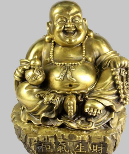 Chinese buddhist exquisite wishful bead happy smile smiling Buddha