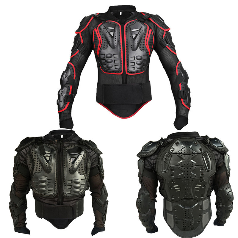 Bambini Bambini Body Armor Ciclismo Skateboarding Petto posteriore Spine Protector Vest Bambini Moto Giacca moto Motocross Body Guard Armatura protettiva Sport Body Armor Jacket L, Nero