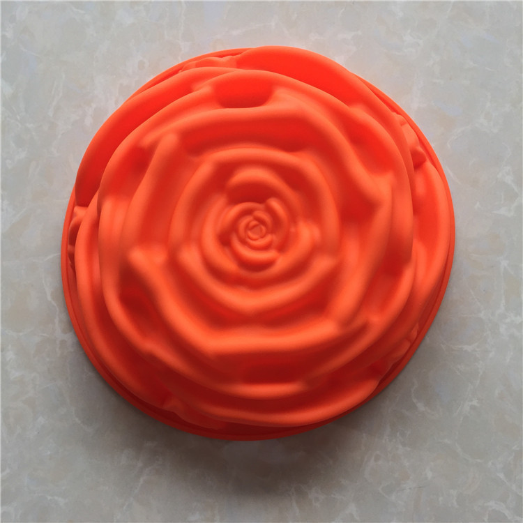 DIY Cook Mould Single Will FLOWER Silica Gel Roast Disc Cake Model High Temperature Resistance Easy Clean Can Reusage