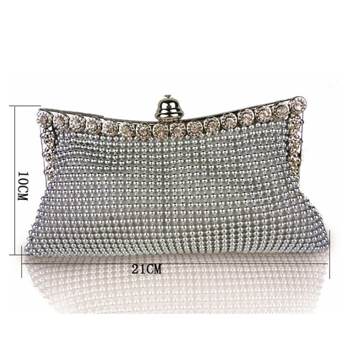Luxury Women Handbag Gorgeous Aluminium Flake Banquet Bag Crystal Lady Handbag Dress Up For Party Formal Dress Evening Clutch D18110106