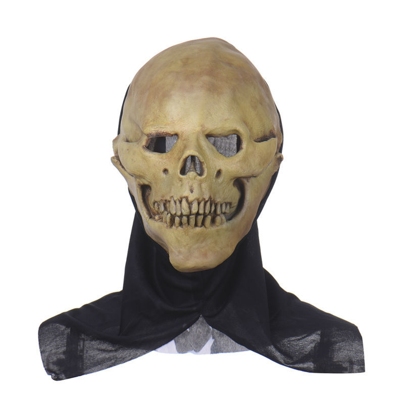 Horrifying Skull Monster Adult Latex Masks Full Head Masquerade Fancy Dress Party Cosplay Costume Scary Mask For Halloween Party