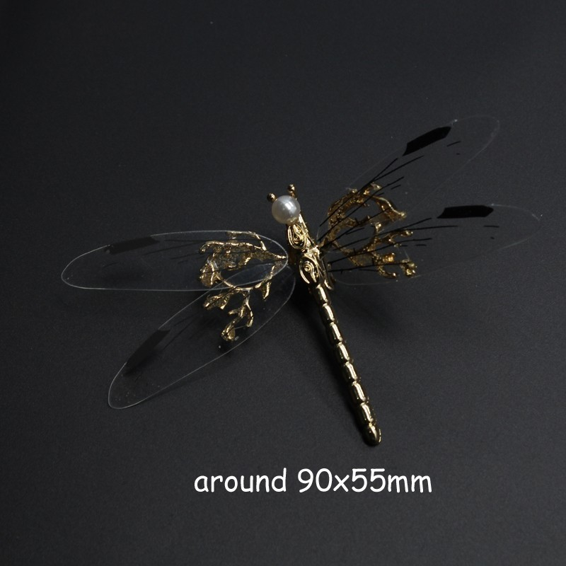 Novel Fancy Metal Wedding Hair Clip Bridal Pearl Hair Barrette Animal Dragonfly Hairpin For Women Bride Head Accessories S919