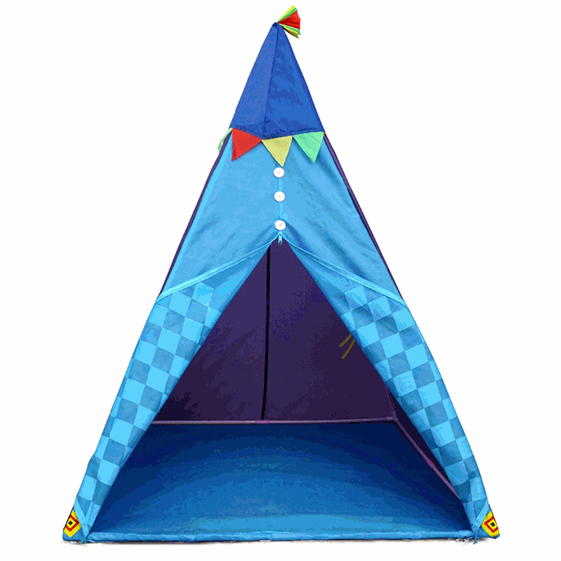 Portable Indian Pattern Toys Tent Play Teepees Safety Tipi Playhouse Activity House Kids Funny Indoor Game Outdoor Beach Tents (1)