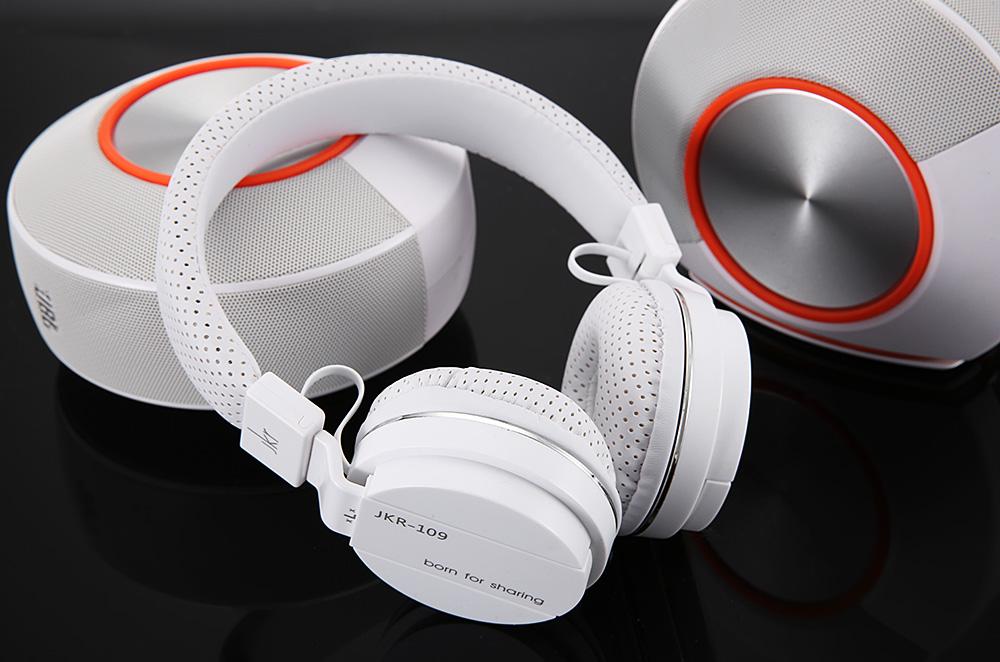 JKR 109 3.5MM Plug Wired Stereo HiFi Music Headphones Headset