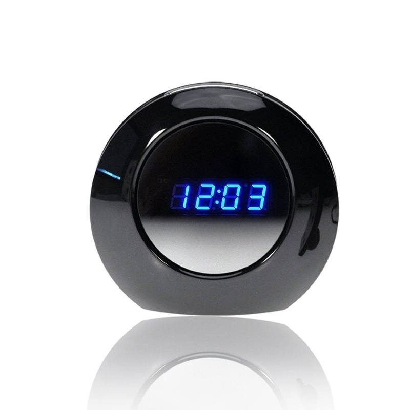 HD Digital Clock Camera 1080P Mini Alarm Clock Camcorder for Home Office Security DVR with Remote Control Motion Detection Surveillance Cam