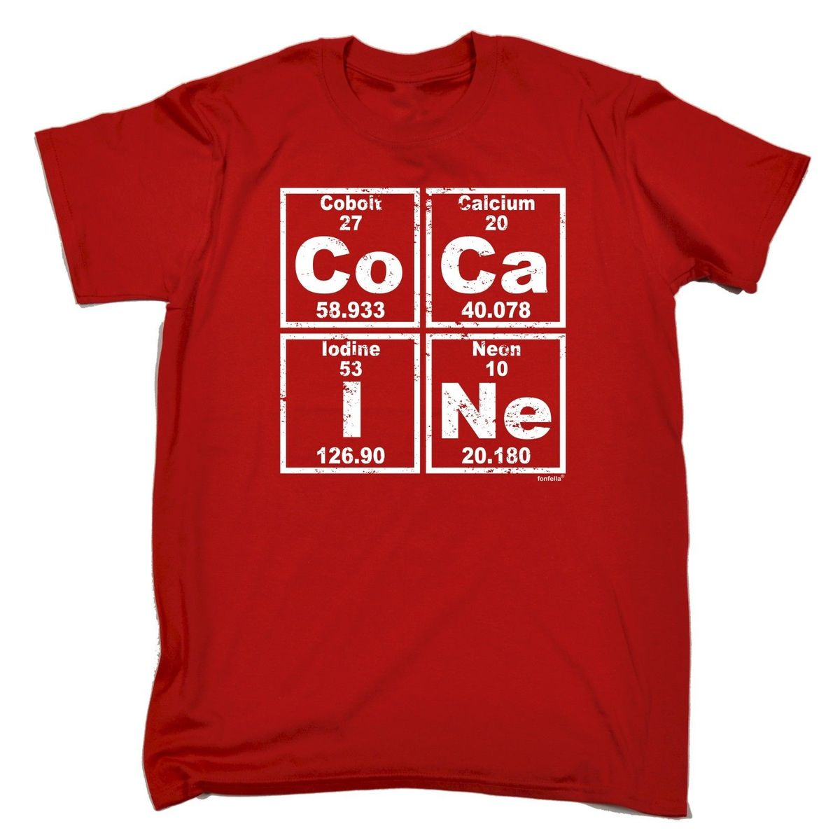 PERIODIC TABLE T-SHIRT tee retro escobar pablo funny birthday gift Fashion T-Shirt Men Clothing High Quality T Shirt