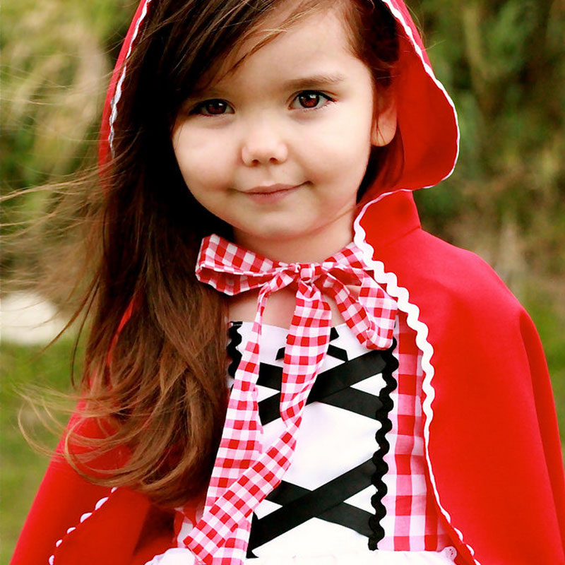 Fancy Princess Cosplay Little Red Riding Hood Role Play Tutu Dress Kids Dresses For Girls Clothes Child Costume Wear 6T Vestido