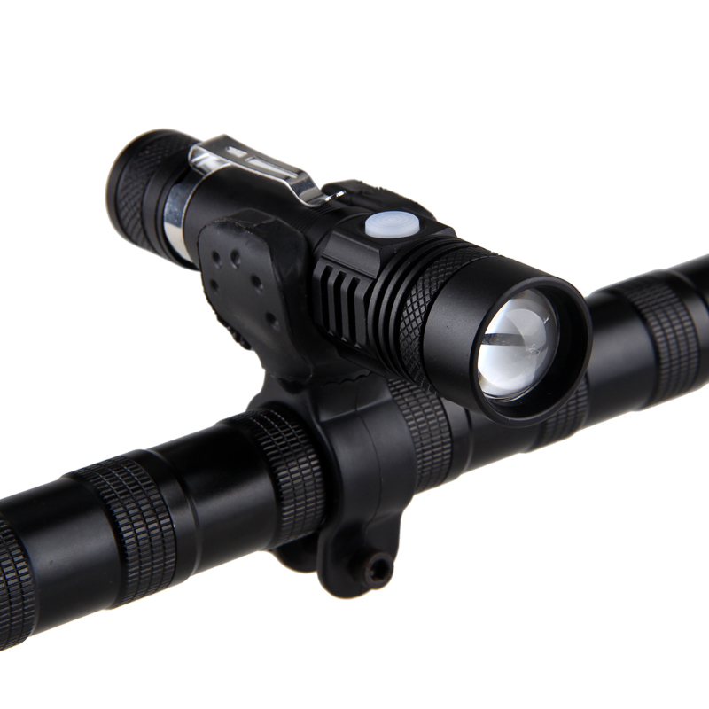 XM-L T6 8000LM LED Bike Bicycle Flashlight Zoomable Focus Camp Torch Lamp Light