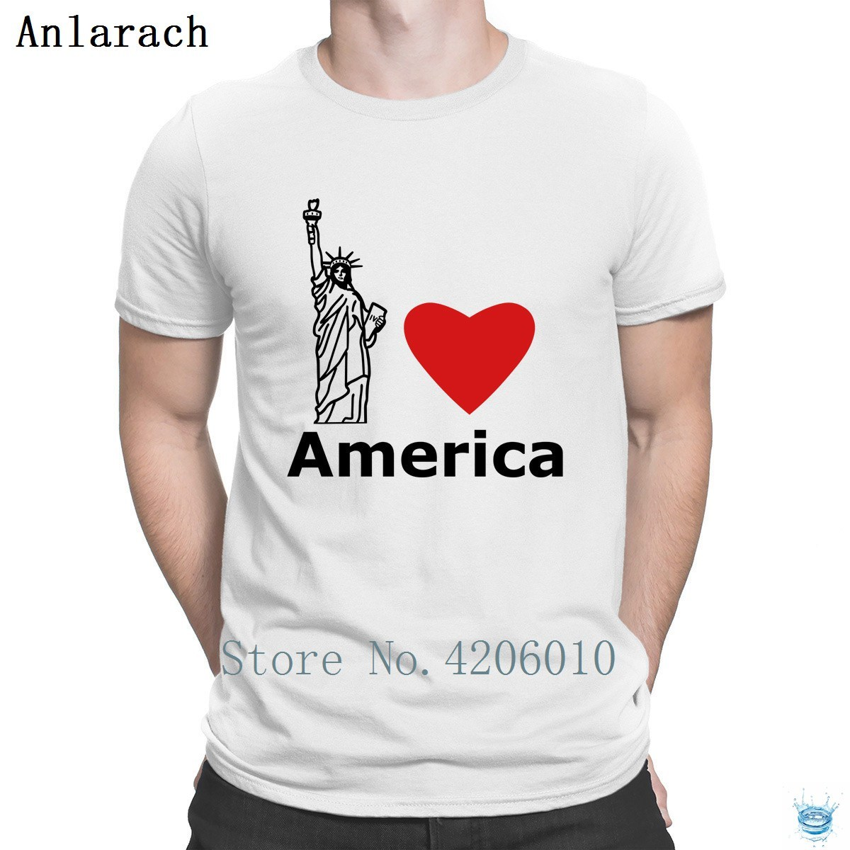 I Love America T-Shirt Family Famous O Neck Websites Tshirt For Men Personalized Top Quality Great Anlarach Summer