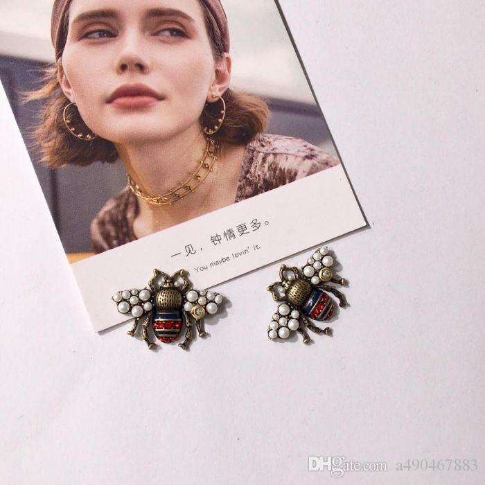 Latest Style Copper Stud Earrings Cute Shape Old Gold Stud Earrings For Fashion Couples Women Gifts