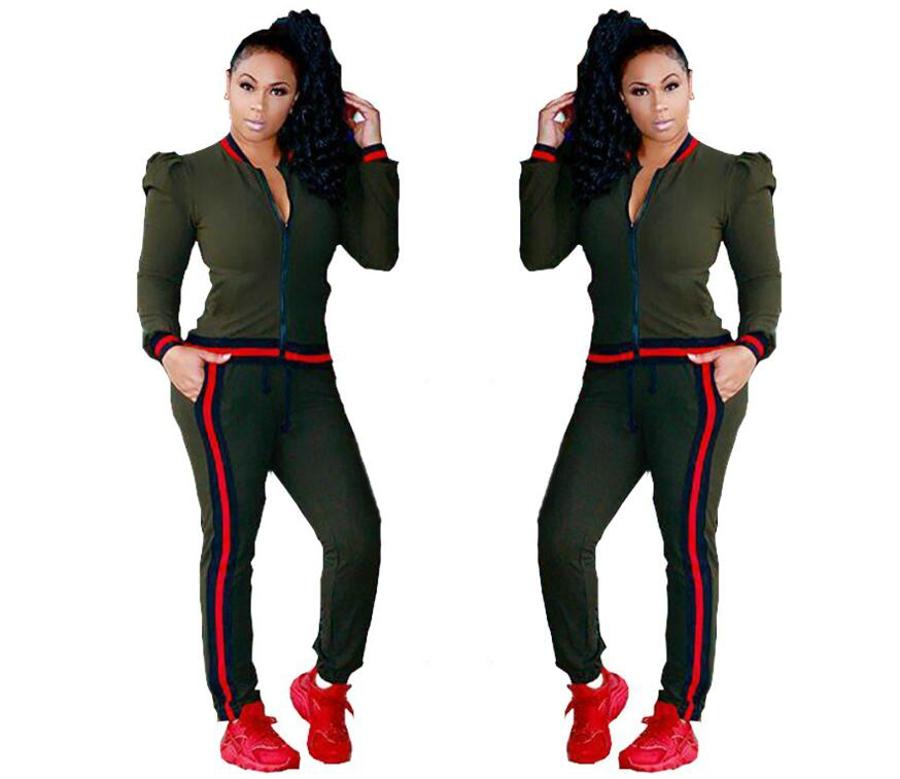 WAN XIANG YUAN Women Sportswear 2017 Autumn Long Sleeve Women 2 Piece Set Slim Pants Suits +Hooded Sets Women Suit 101703