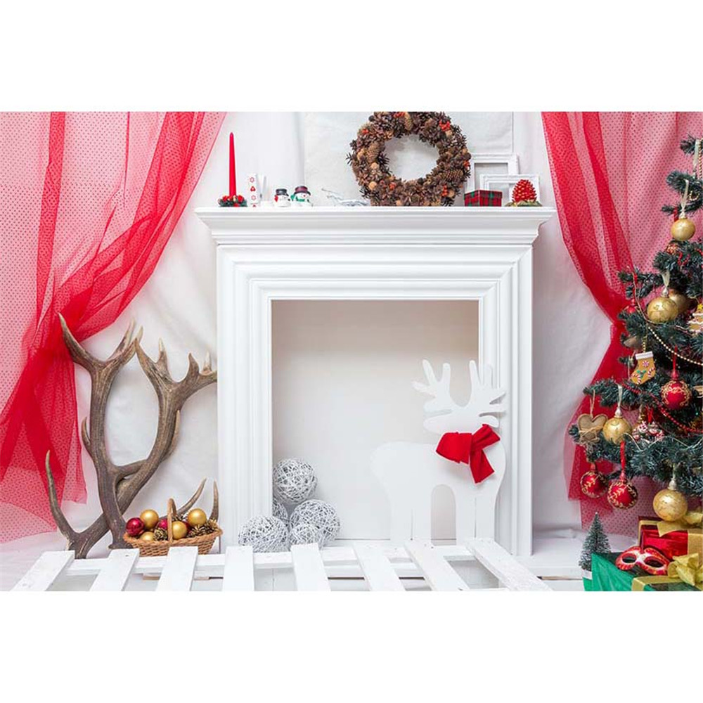 YEELE 10x10ft Christmas Photography Background String Lights Wooden Board Backdrop Kids Adults Portrait Xmas Holiday Pictures Photo Booth Photoshoot Props Digital Wallpaper