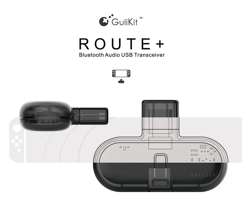 GB1 ROUTE + Wireless Bluetooth Transmitter Transceiver Headset NS Switch PC Audio USB Type-C Adapter con scatola Spedizione gratuita