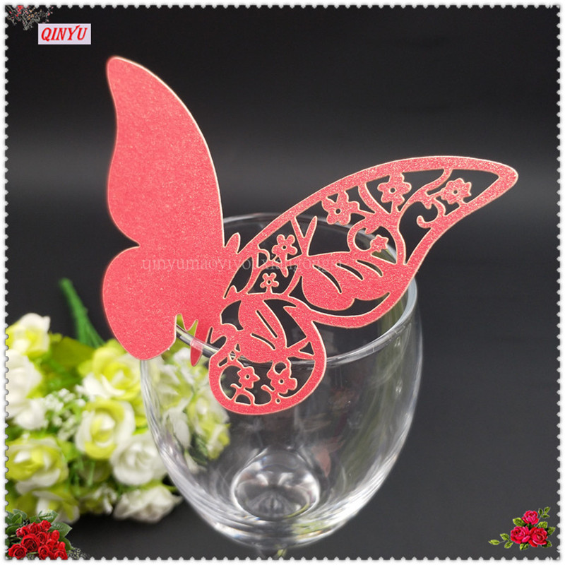 Butterfly Wine Glass Name Place Card Wedding Event Party Bar Decoration Birthday Supplies 8ZSH859