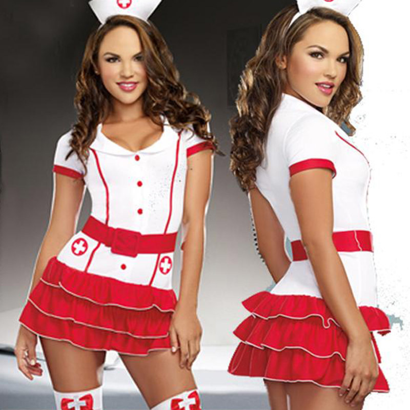 Naughty Nurse Costume For Women Nurse & Doctor Fancy Party Dress Sexy Hospital Hottie Red Nurse Uniform Outfits Cosplay (2)
