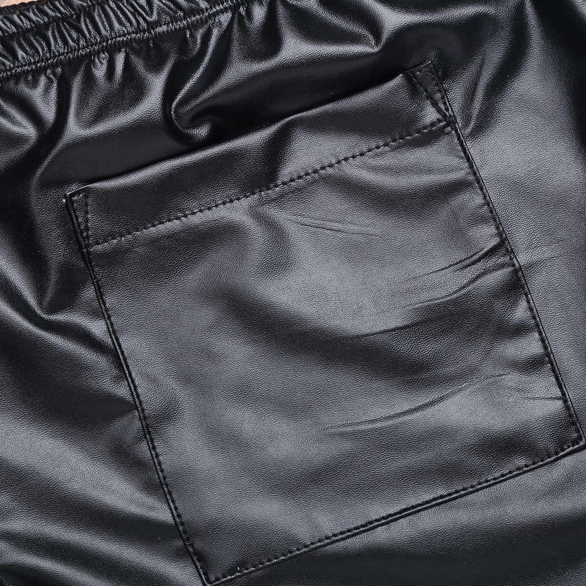 Toptan Boxershorts Erkekler Faux Deri Gevşek Sıcak Boxer Kısa Iç Çamaşırı Pantolon ile Bir Geri Pocket için Mens Iç Çamaşırı Külot