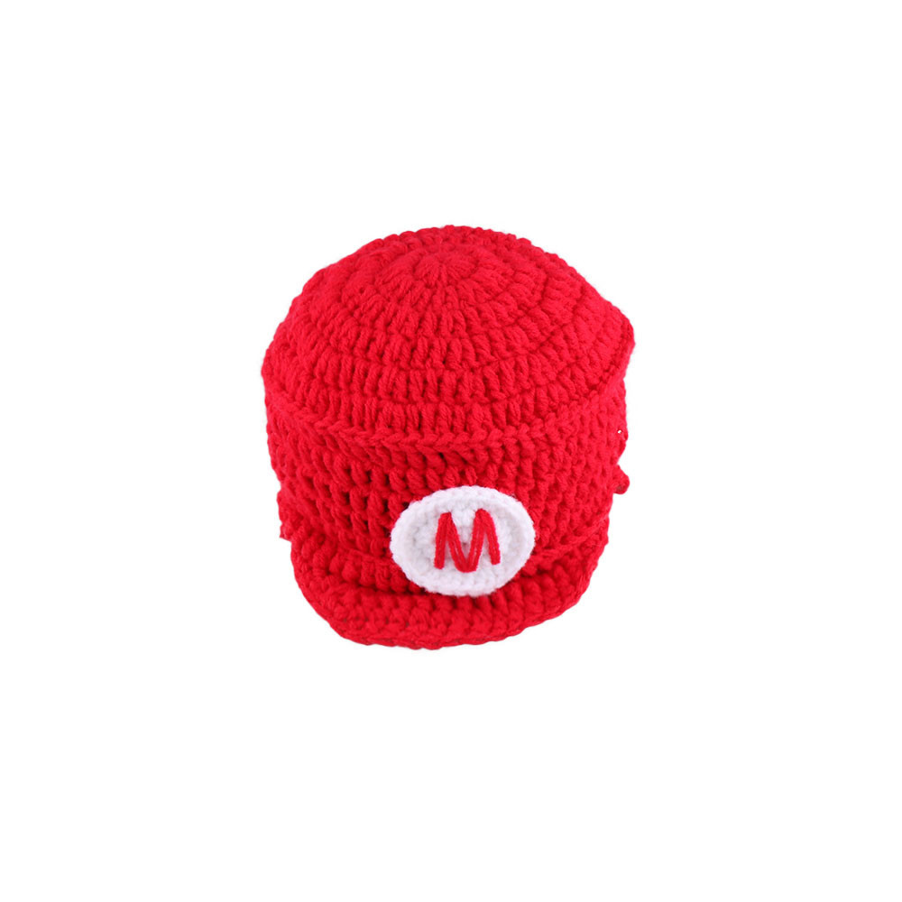 Baby Photography Props Mario and Louis Baby Boys Crochet Mario Bros Newborn Photo Outfits Cartoon Costume