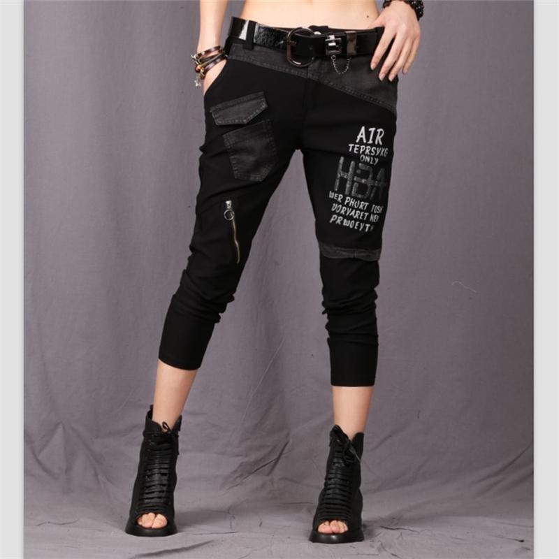 Toptan 2018 Lüks Kore Moda Kızlar Yaz Kırpma Üstleri Ve Pantolon Womens İki Adet Setleri Denim Eşofman Kadın Kıyafet giyim