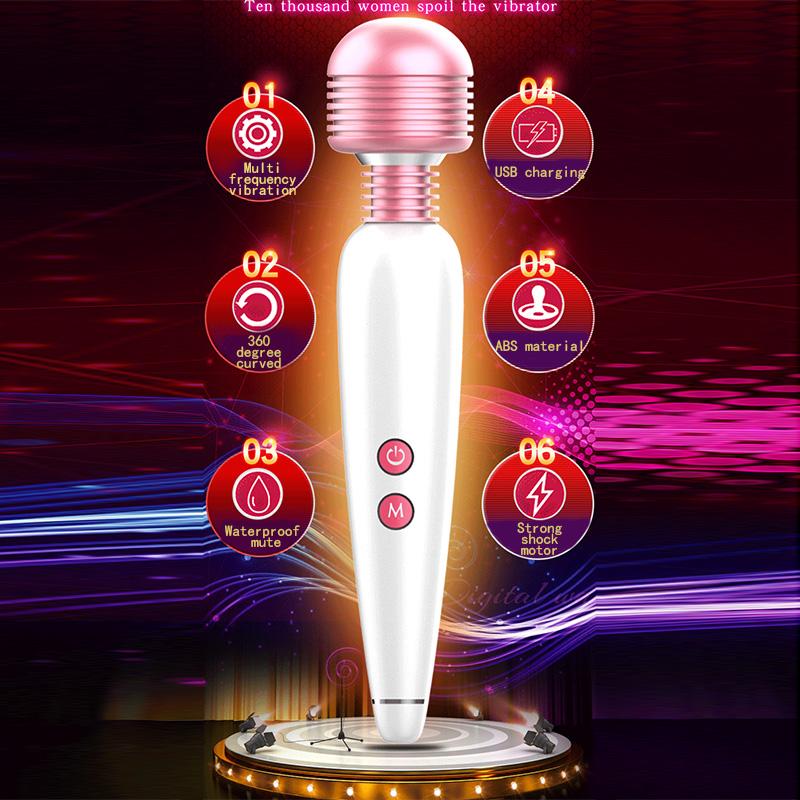 12 Vitesse Vibration AV Magie Baguette Masseur De Corps Clitoris Stimulation Vibrateur G-spot Labia Masturbateur Vibrador Sex Toy pour Femmes