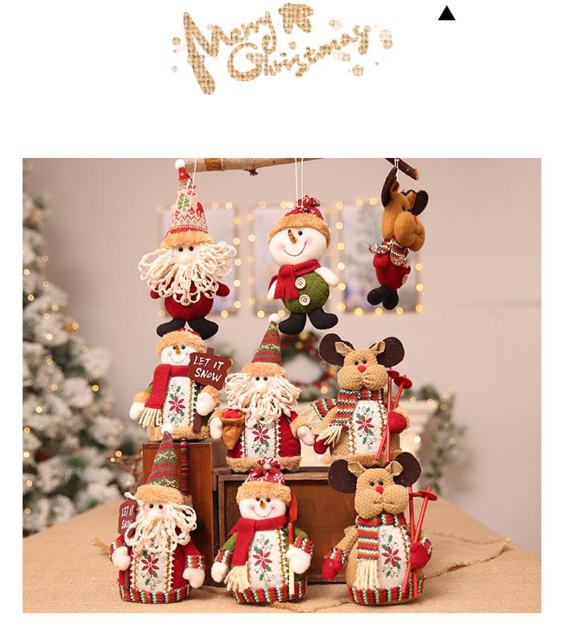 Christmas snowman ornaments Christmas Decorations for Home New Year scarf doll Santa Claus Desktop Decorations Navidad Natal (15)