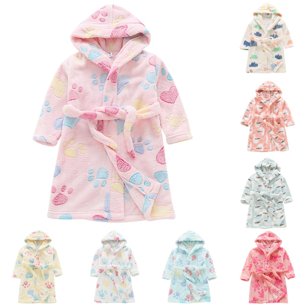 Be You Peach Letter Print Girls Bath Robe//Bathrobe for Girls