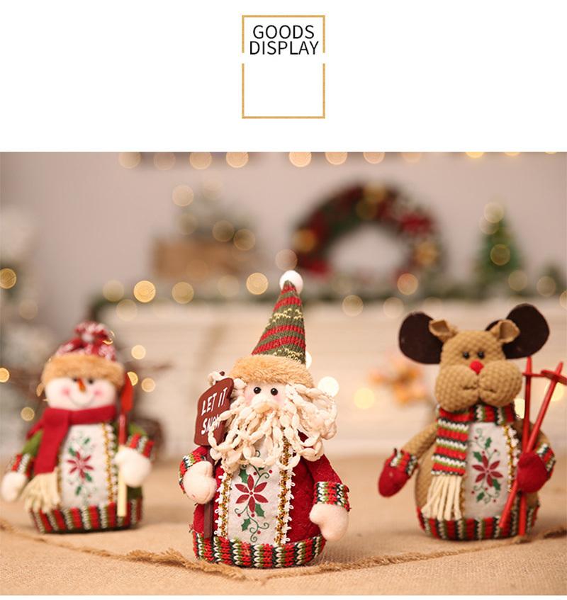 Christmas snowman ornaments Christmas Decorations for Home New Year scarf doll Santa Claus Desktop Decorations Navidad Natal (11)