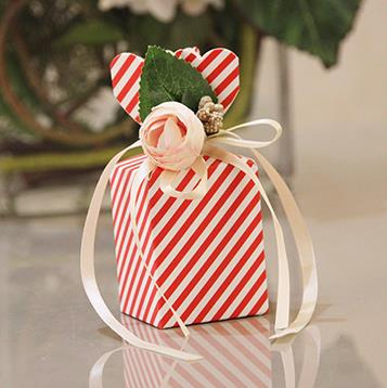 Beautiful Tiffany Blue Vase Shape Sweet Wedding Candy Box With White PE Rose Flower Birthday Party Red Pink Gift Box