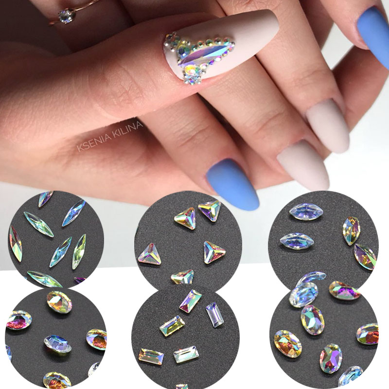 A84 200pcs 10mm Acrylic Rhinestones Nails Decor Manicure 3D Nail Art Decoration