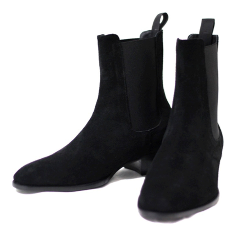 2019 2019 Mens Ankle Boots Chelsea High Top Real Suede Leather Manual Riding Shoes H13 Sneakers Western Boots Shoe Shops From Cn66, $133.85|
