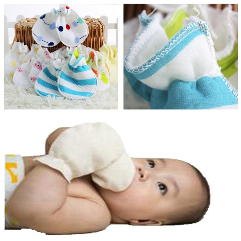 Cute Baby Infant Boy Girl Anti-Rayure Mitaines Doux NewBorn Corde Gants