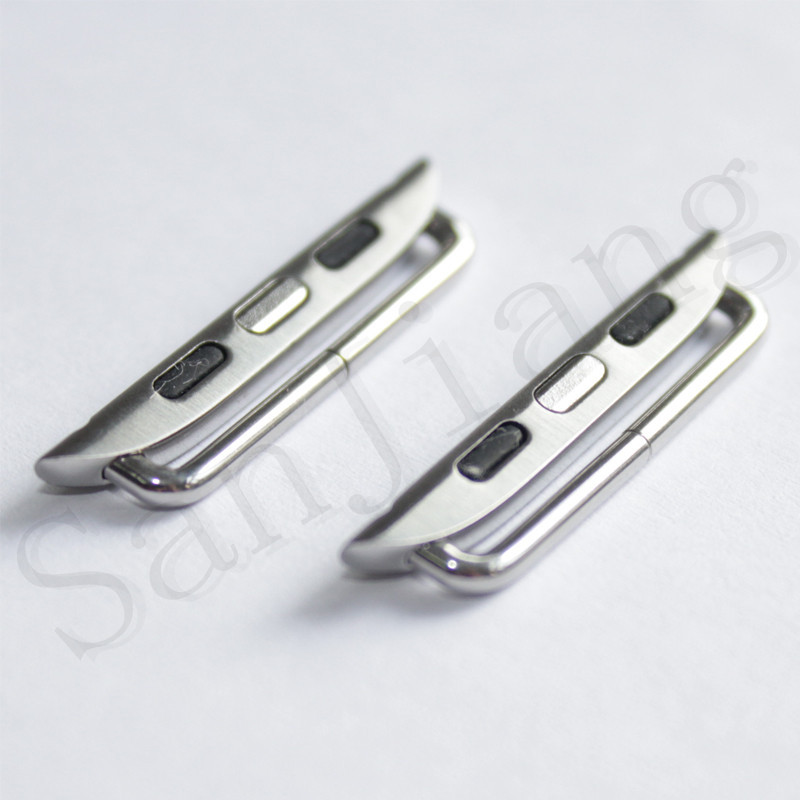 for Apple Watch Series 4 Stainless Steel Adapter Iwatch 40mm 44mm Metal Band Connector DIY Watchband Strap Connector /Pair