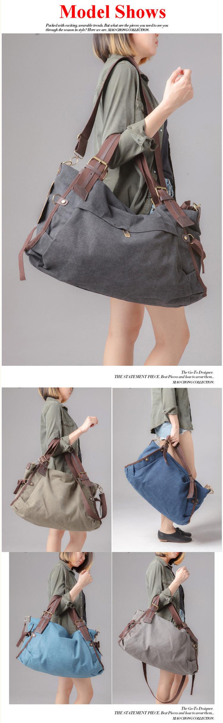 Female Handbags Multi-function Fashion Single Shoulder Bag Wear-resisting Canvas