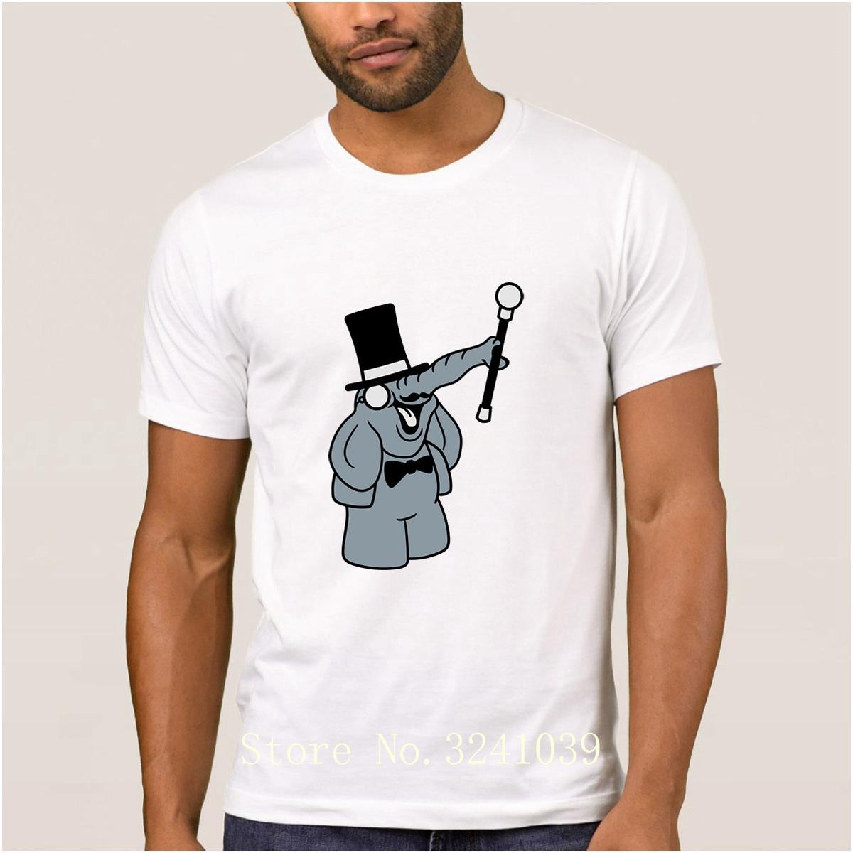 La Maxpa Casual hat monocle suit sir gentlemen stock trunk t shirt Spring t-shirt for men Short Sleeve regular tshirt for men