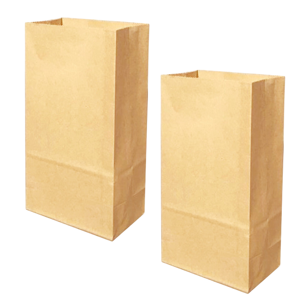 Kraft Paper Bags Favors Candies Treat Bags Take Away Food Containers for Cafe Restaurant Snack Bar Bakery Home