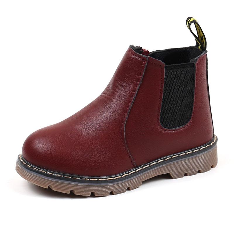 2018 Bambini Autunno Inverno Oxford Scarpe Martin le ragazze dei ragazzi Dress Stivaletti Moda British Style Bambini Baby Toddler PU Ieather Boots