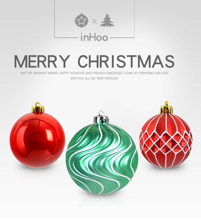 01 inhoo 50pcs Christmas ball Decorations for home Christmas Tree Decoration Ball Ornaments Pendant Accessories Xmas Gifts 2019 new