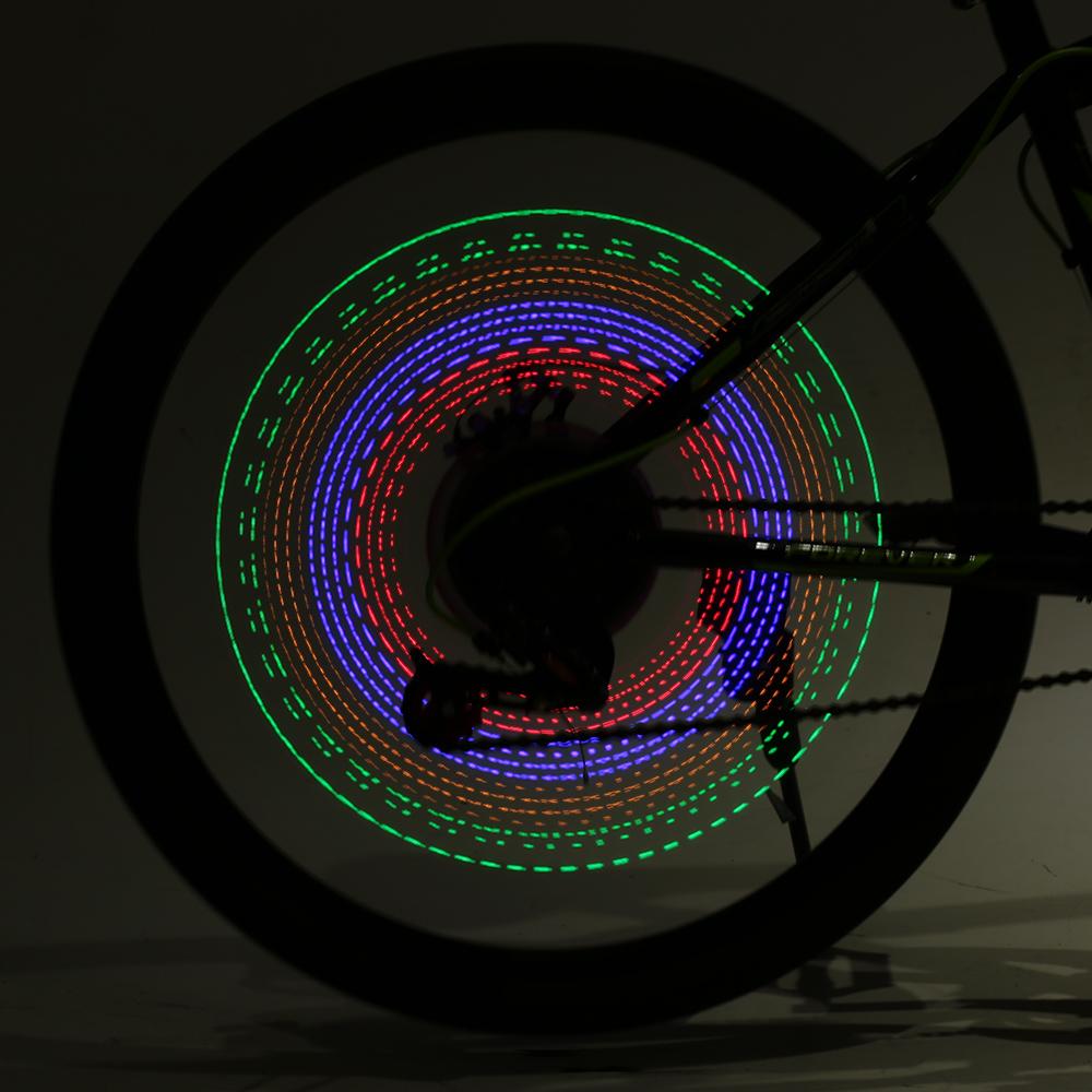 32 RGB LEDs Bicycle Spokes Lights Color Changing Bicycle Light Tyre Tire Valve Caps Spoke Wheel Light Bike Light Lamp 2018