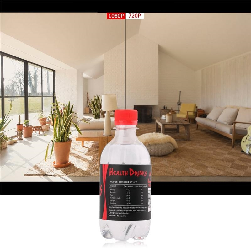HD Mini Portable Camera 1080P Drinking Water Bottle Nanny Tiny Camera with Motion Detection Security Camera for Home Security with Box
