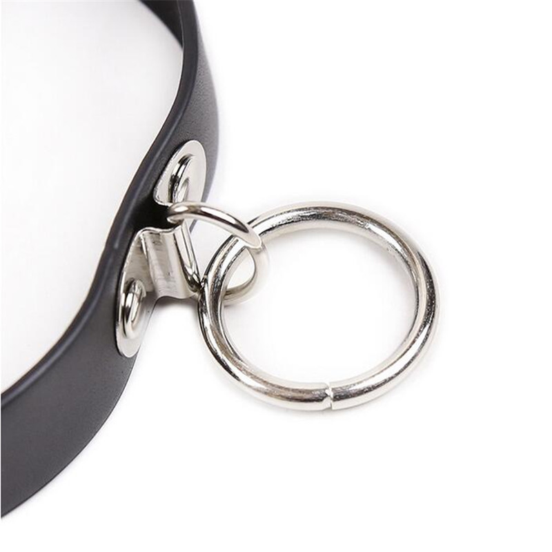 Gay Leather Collar BDSM Sexy Leash Ring Chain Slave Bondage Erotic Toys Role Play Erotic Fetish Collar Sex Toys For Couples Sexo Y18102405