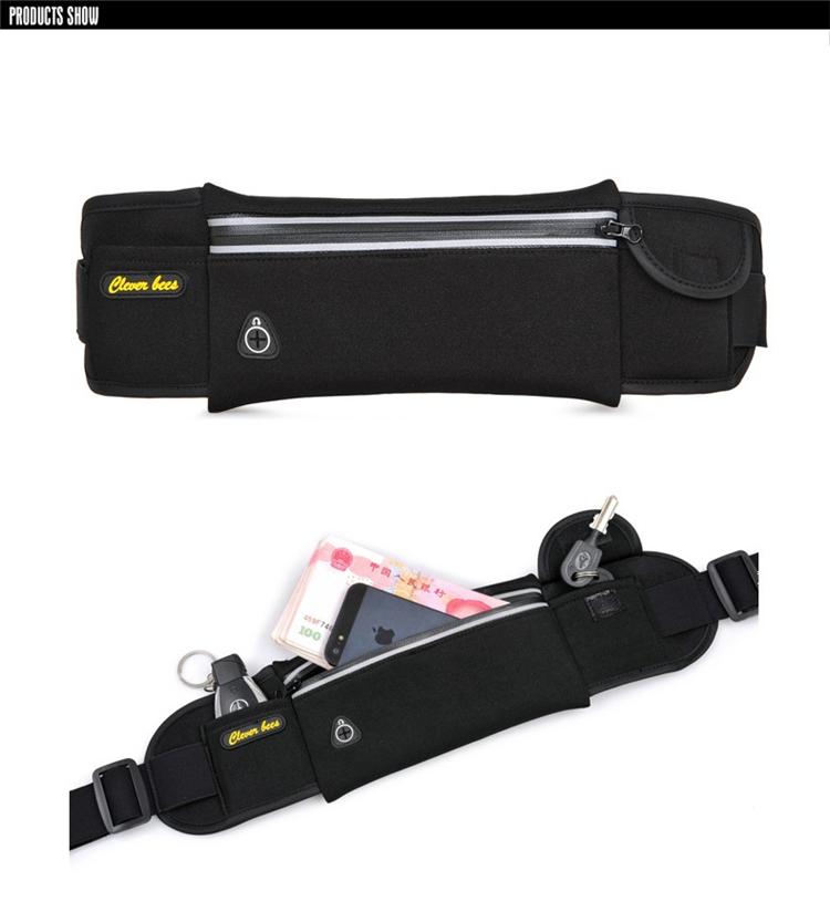 Unisex Waterproof Neoprene Belt Bags Waist Pack Bag Boys Belt Bum Bag_B3_14